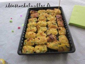 Mini Cake Courgette Gruyere